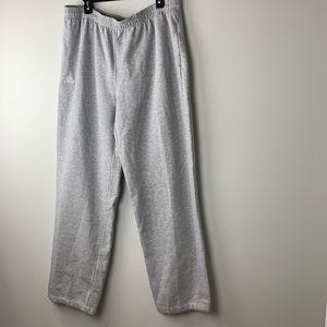 Adidas Grey Fleece Sweatpants Straight Leg Size XL